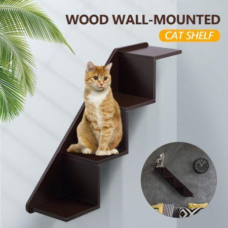 Petscene Cat Stairs Wall Shelves, Wall Mounted Cat Furniture Nz