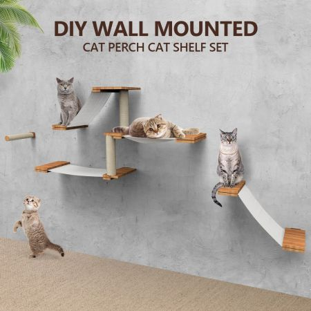 Deluxe Floating Cat Tree Shelves, Wall Mounted Cat Furniture Nz