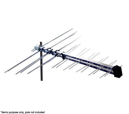 Cct Super Active Antenna For Uhf Vhf Tv Fm Radio With Built In Booster Gain Control Multi Voltage